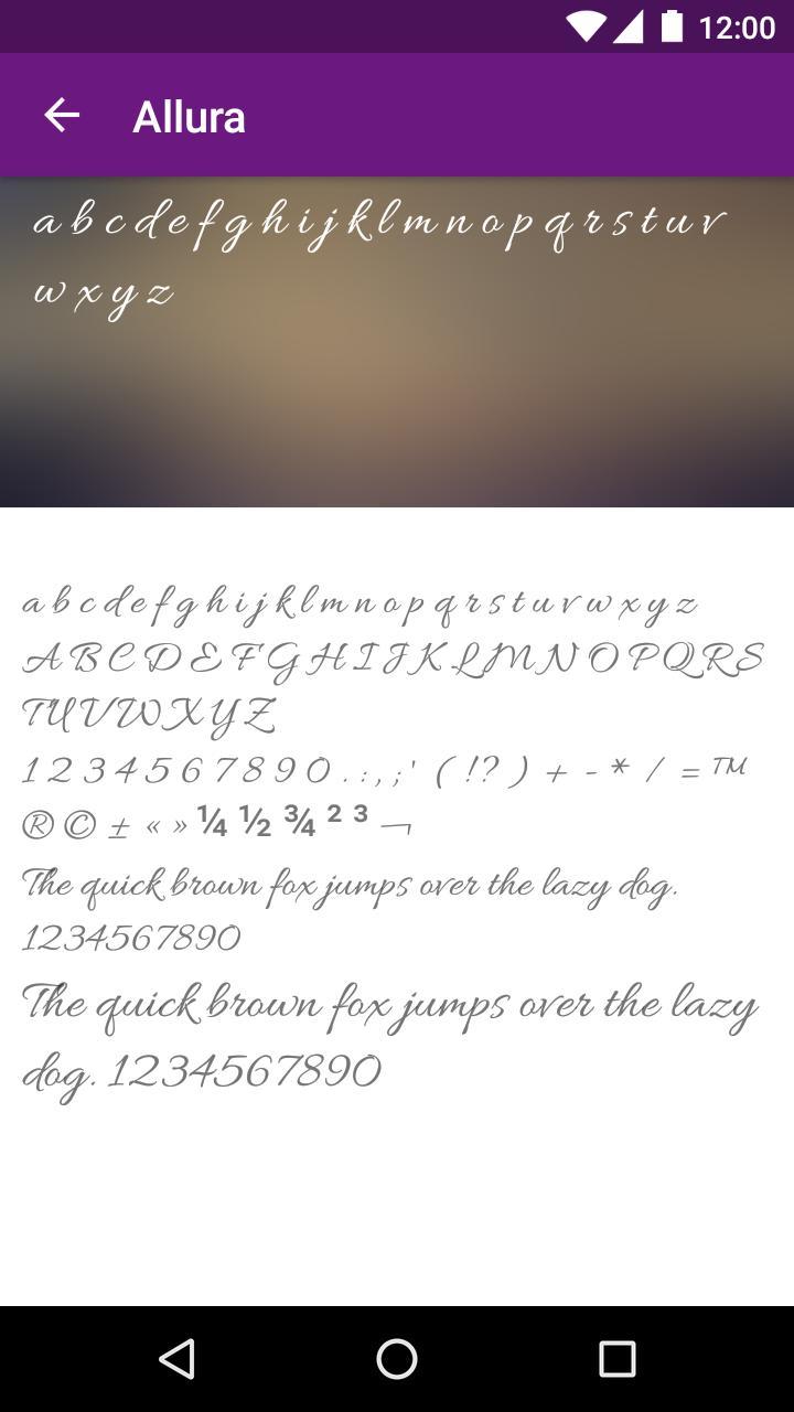 Script Font for FlipFont for Android - APK Download