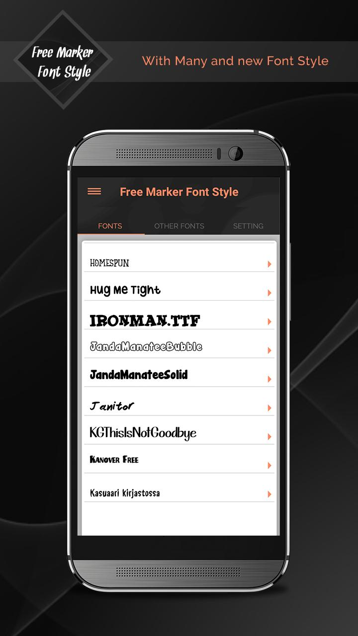 Free Marker Font Style For Android Apk Download