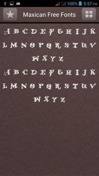 Mexican Font Style apk screenshot