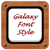 Galaxy Font Style icon