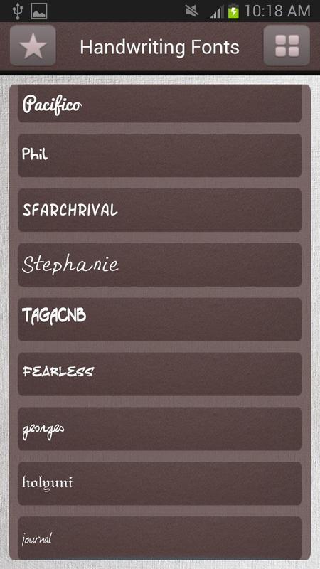Handwriting fonts free apk download lifestyle app