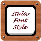 Italic Font Style icon