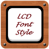 LCD Font Style icon