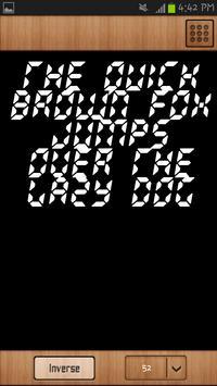 LCD Font Style apk screenshot