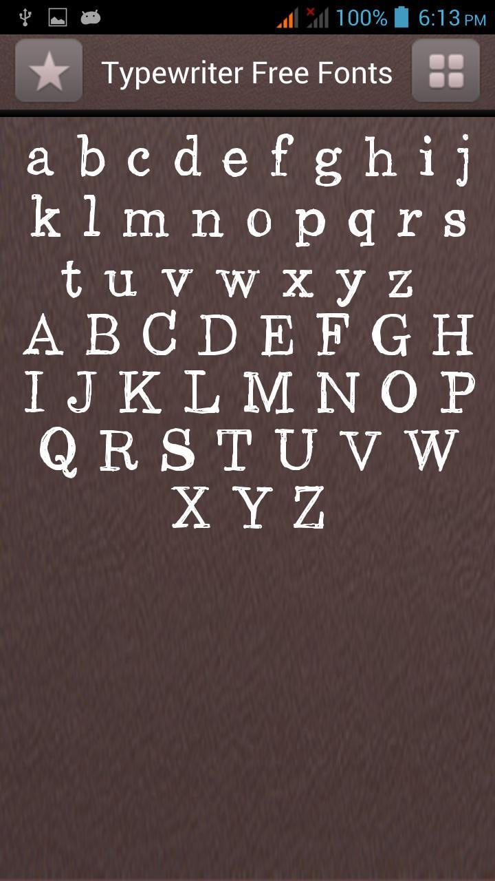 Typewriter Fonts Free for Android - APK Download