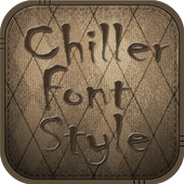 Chiller Font Style icon