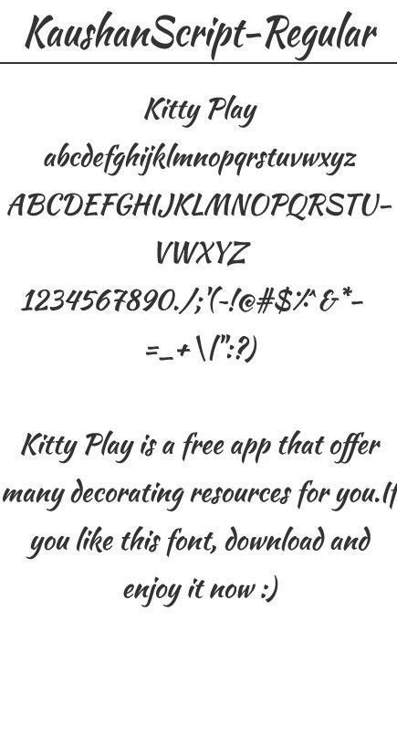 KaushanScript-Regular for Android - APK Download