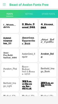 Beast of Avalon Fonts Free for Android - APK Download