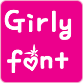 Girls Fonts for FlipFont icon