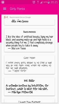 Girly Fonts for FlipFont poster