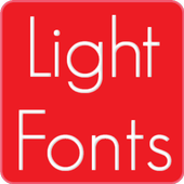 Light fonts for FlipFont icon