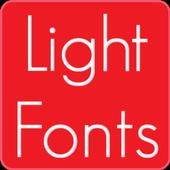 Light fonts for FlipFont icon
