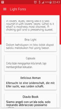 Light fonts for FlipFont poster