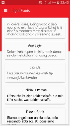 Light fonts for FlipFont for Android - APK Download