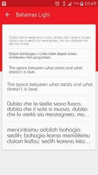 Light fonts for FlipFont screenshot 2
