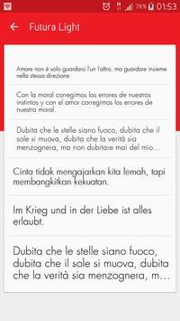 Light fonts for FlipFont screenshot 5