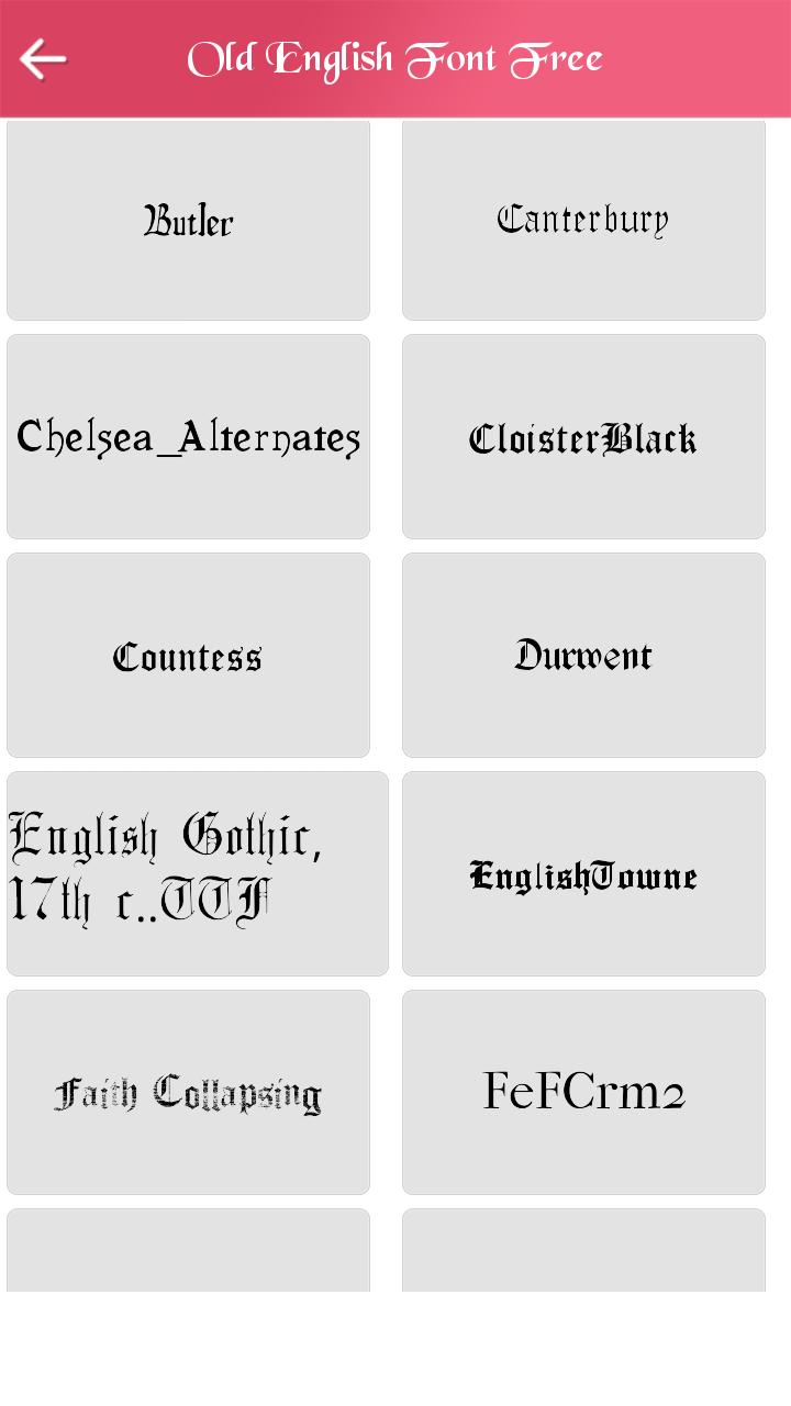 Old English Font Free for Android - APK Download