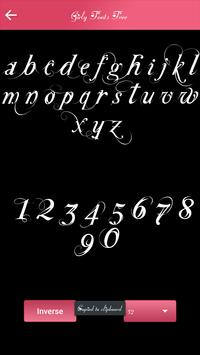 girly fonts free apk screenshot