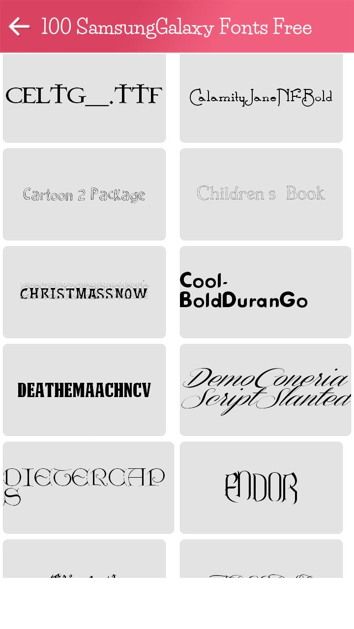 Download 100 Samsung Galaxy Fonts Free for Android - APK Download