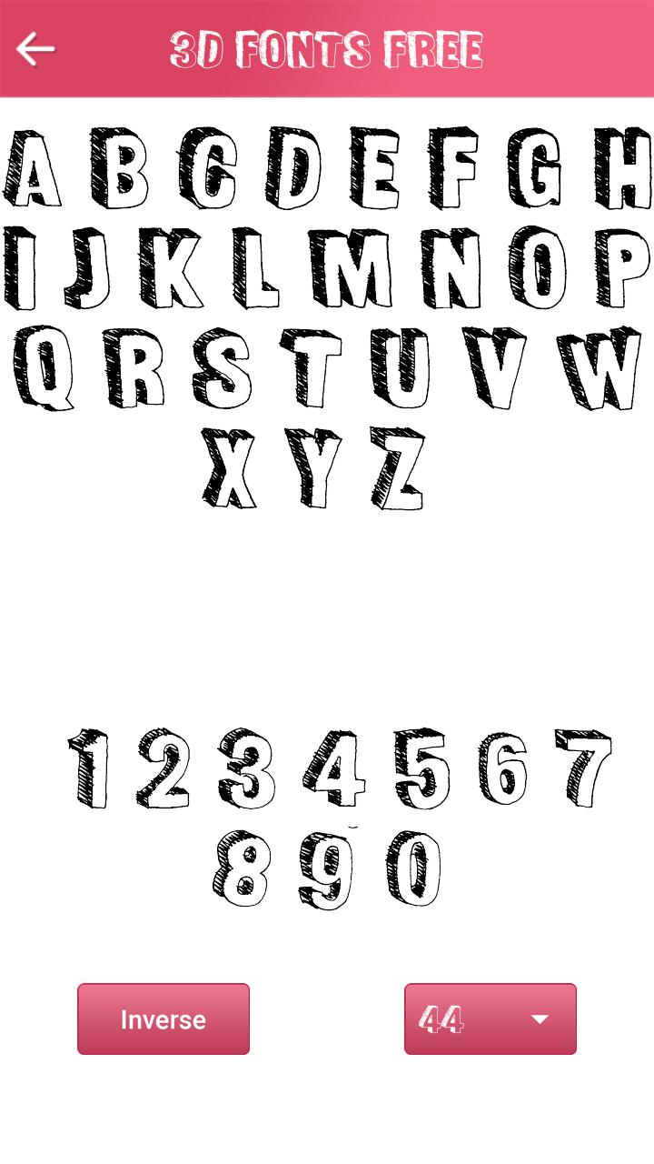 Download 3D Fonts Free for Android - APK Download