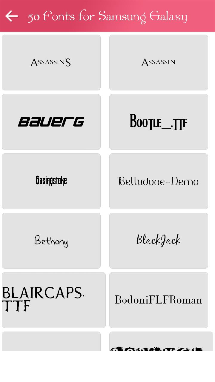 50 Fonts for Samsung Galaxy for Android - APK Download