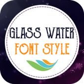 Glass Water Font Style icon