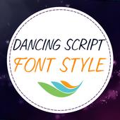 Dancing Script Font Style icon