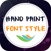 Hand Paint Font Style icon