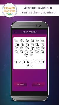 Heaven Font Style apk screenshot