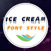 Ice Cream Font Style icon