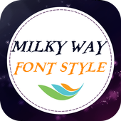 Milky Way Font Style icon
