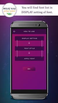 Milky Way Font Style apk screenshot