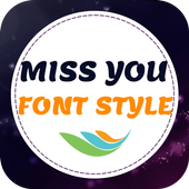 Miss You Font Style icon