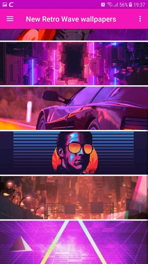 New Retro Wave wallpapers for Android - APK Download