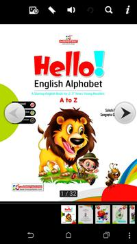 Hello English Alphabet poster