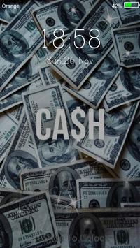 Money Live Wallpaper Lock Screen Screenshot