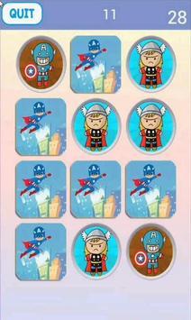 Super Hero Matching Game screenshot 1