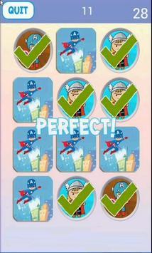 Super Hero Matching Game screenshot 2