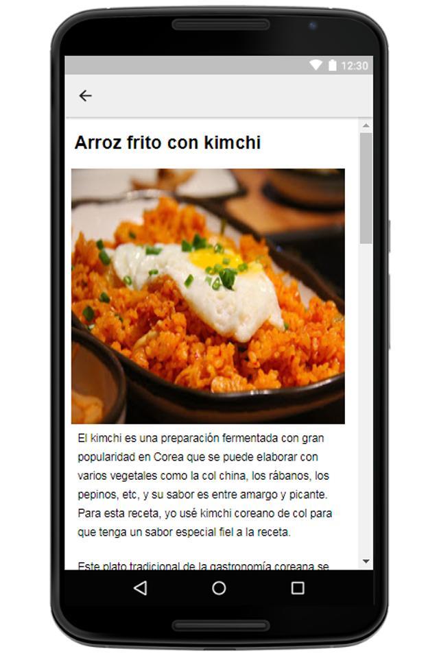 Recetas Coreanas En Español Comida Coreana Facil For Android