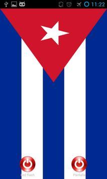 Linterna flash led Cuba poster