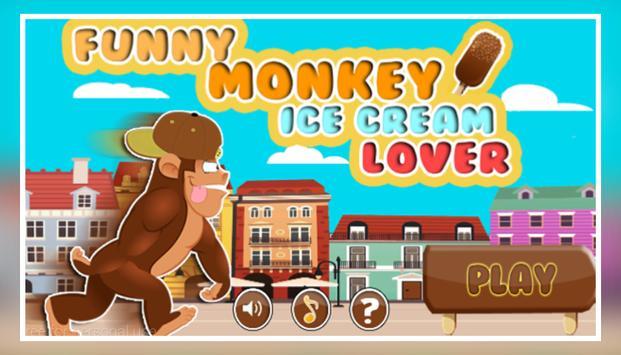 Funny Monkey Ice Cream Lover poster