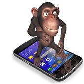 monkey on screen dancing joke icon