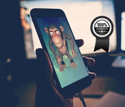 monkey on screen dancing joke apk screenshot