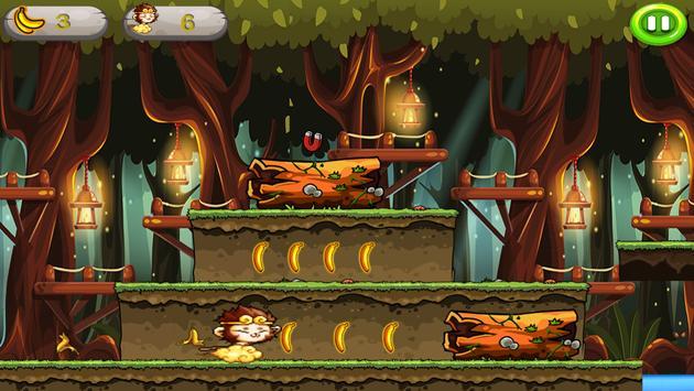 Banana Monkey king Run Jungle screenshot 10
