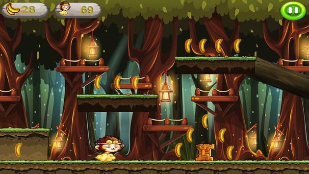 Banana Monkey king Run Jungle screenshot 7