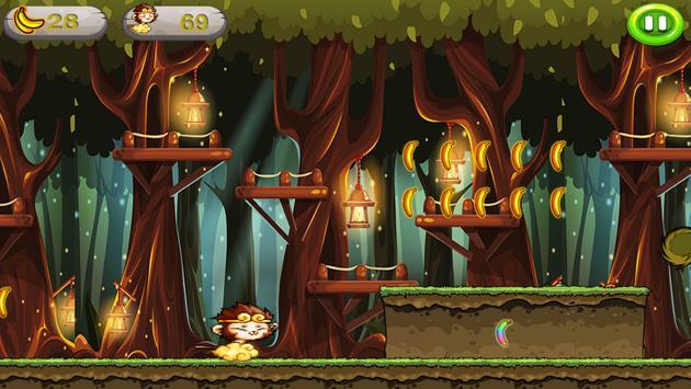 Banana Monkey king Run Jungle screenshot 8