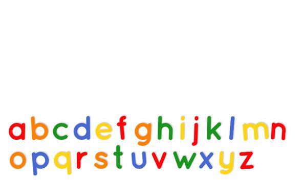 Fridge Magnet Letters poster