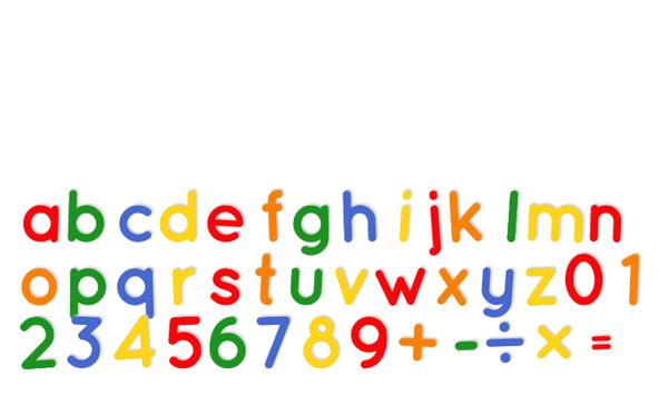 Fridge Magnet Letters+Numbers poster