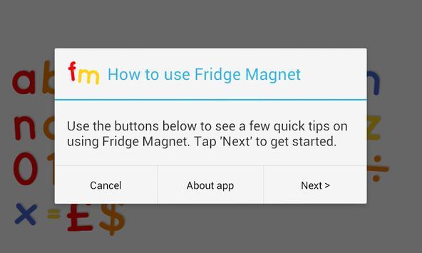 Fridge Magnet Letters+Numbers screenshot 6