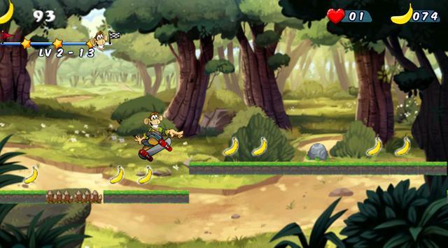 Monkey Skater Dash apk screenshot